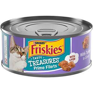Purina Friskies Gravy Wet Cat Food, Tasty Treasures With Turkey & Liver – (24) 5.5 oz. Cans