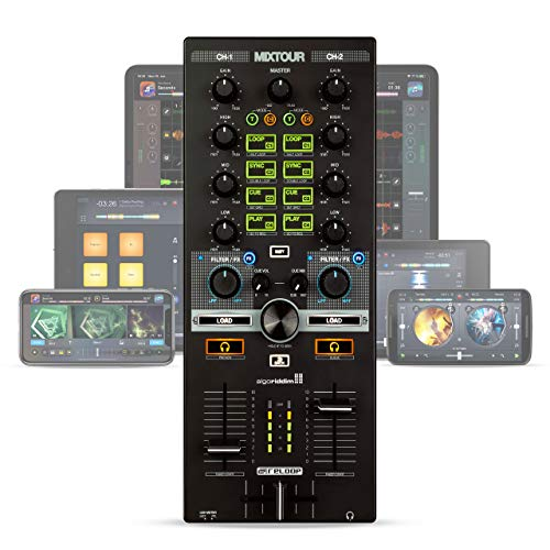 Reloop Mixtour Controller da DJ Portatile USB Multifunzione (Nero)