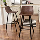 Christopher Knight Home Dax Snake Skin Brown Bar Stool (Set of 2)
