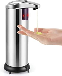 Soap Dispenser, Touchless Automatic Soap Dispenser, Upgraded Waterproof Base Infrared..