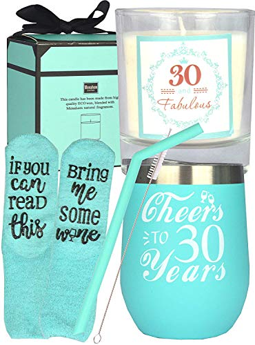 30th Birthday Gifts for Women Mint, 30th Birthday Cup, 30 and Fabulous, 30th Birthday Presents for Woman, I'm 30, Best Turning 30-Year-Old Birthday Gift Ideas for Her