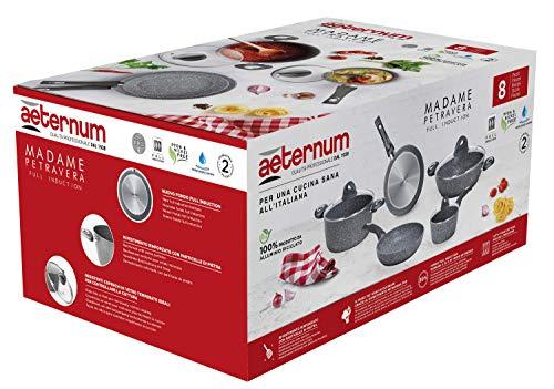 Aeternum Madame Petravera 3.0 Set Batteria di Pentole e Padelle, Alluminio, Adatte all'induzione, 8...