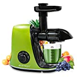 CIRAGO Juicer Machines, Slow Masticating Juicer Extractor Two Speed Adjustment, Easy to Clean, Quiet Motor, Cold Press Juicer for Vegetables and Fruits, BPA-Free (Green)