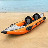AQUATEC Kayak Kayak Gonflable de Peche en Mer ou en Rivière | Kayak Canoë...