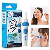 Ear Wax Removal Kit, Ear Cleaner, Liaboe Portable Automatic Electric Vacuum Ear Wax, Ear Vacuum Cleaner Easy Earwax Remover Soft Prevent Ear-Pick Clean Tools Set, Safe and Comfortable for Adults Kids