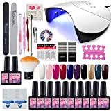 Saint-Acior 10pc Vernis Semi Permanent 36w UV/LED Lampe Pour Sécher Vernis...