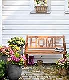 Dehner Gartenbank Home, 2-Sitzer, ca. 120 x 64 x 89 cm, FSC Akazienholz, natur - 3