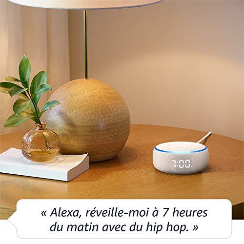 51AnJJPupGL Notre bon plan !  Echo Dot (3ème génération), Enceinte connectée avec horloge et Alexa + Philips Hue White & Color Pack de 2 ampoules...