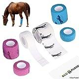 Bandage auto adhésif - Ruban enveloppant pour les chevaux -...