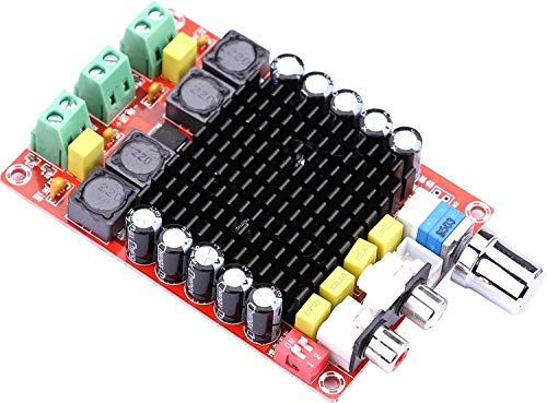 REES52 100W Dual Channel Digital Stereo Power Amp Module DC 24V Class D Audio Amplifier Board for 4Ω¸ 6Ω¸ 8Ω¸ Subwoofer Sound System Speaker Car Vehicle Home Theater