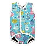 Splash About Baby Wrap Wetsuit Traje de Neopreno, Infantil, Azul (Tutti Frutti), 0-6 Meses