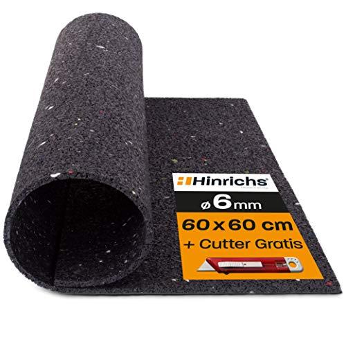 Hinrichs Antivibrationsmatte für Waschmaschinen - 60 x 60 cm Antirutschmatte Waschmaschine - Zuschneidbare Lärmschutzmatte als Waschmaschinenunterlage - Rubber Mat…