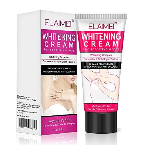 Natural Underarm Whitening Cream,Effective for Lightening & Brightening Armpit, Neck, Bikini, Thigh and Sensitive & Private Area Skin,Whitens Nourishes Repairs & Restores Skin1 Pack