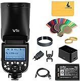 Godox V1-C Flash per Canon, Lampeggiatore a Testa Tonda 76Ws 2.4G TTL, HSS...