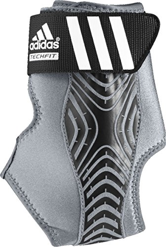 adidas Adizero Speedwrap Ankle Brace, Medium Lead/Grey, Large