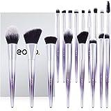 Eono by Amazon - Juego de pinceles de maquillaje veganos, 17 piezas, juego de pinceles profesionales, ...