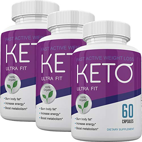 Keto Ultra Fit - Fast Acting Weight Loss with Metobolic Ketosis Support - 180 Capsules - 3 Month Supply 1