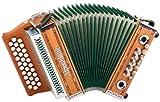 Alpenklang Steirische Harmonika'Mini' massiv aus Kirschholz (G-C-F Stimmung, 31 Knopftasten, 11 Helikon-Bässe, 3-reihig, inkl. Rucksack-Case)