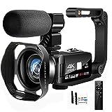 Camescope Caméra Vidéo Full HD 4K Camescope Numerique 48,0MP Caméra de...