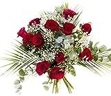 RAMO DE 12 ROSAS rojas NATURALES - ENTREGA EN 24 HORAS - Flores Frescas -...