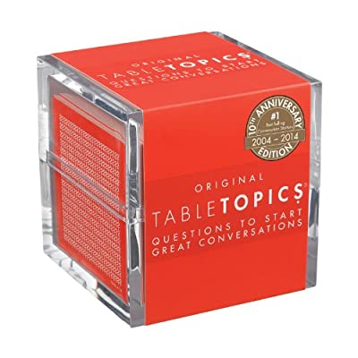 This new version of our popular Original edition has 25% updated questions With more than 2 million copies sold, TableTopics are the #1 best-selling conversation starters 135 thought-provoking questions inspire the best kinds of conversation at dinne...