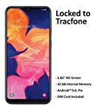 ($50 eGift Card Promotion) Tracfone Samsung Galaxy A10e 4G LTE Prepaid Smartphone (Locked) - Black - 32GB - SIM Card Included - CDMA