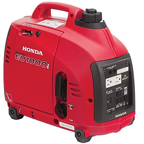 Honda EU1000i Inverter Generator, Super Quiet, Eco-Throttle, 1000 Watts/8.3 Amps @ 120v (Red)