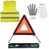 LIHAO Kits d'urgence pour Auto, Triangles de Signalisation, Gilets de...