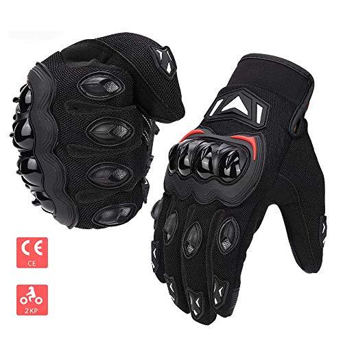 ISSYZONE Motorrad Handschuhe Sport Handschuhe Touchscreen Handschuhe Warm Atmungsaktiv Anti RutschFahrad Handschuhe Sommerhandschuhen (Schwarz, XL)