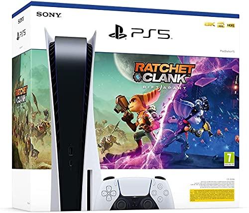 PS5 Sony PlayStation 5 Konsole Standard Edition, 825GB SSD, 4K/8K, HDR (Mit Laufwerk) + Ratchet & Clank: Rift Apart