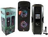 Mr. Dj DJBT215 Dual 15' 5000 Watt Max Power Speaker with Built-in Bluetooth LCD/MP3/USB/SD Slot