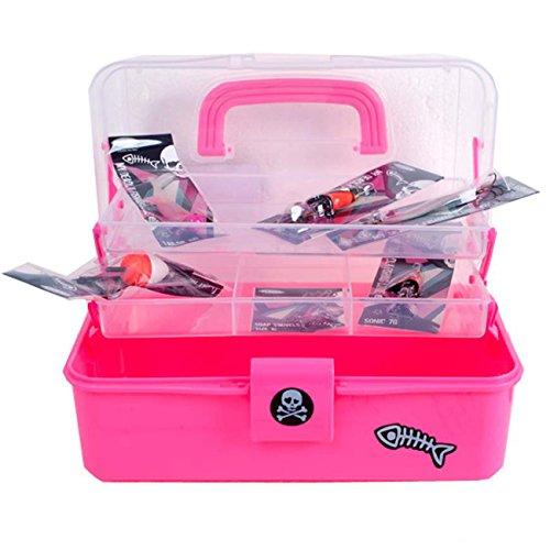 Fladen Wilderness - Valigetta da pesca per bambini, Bambini (unisex), rosa.