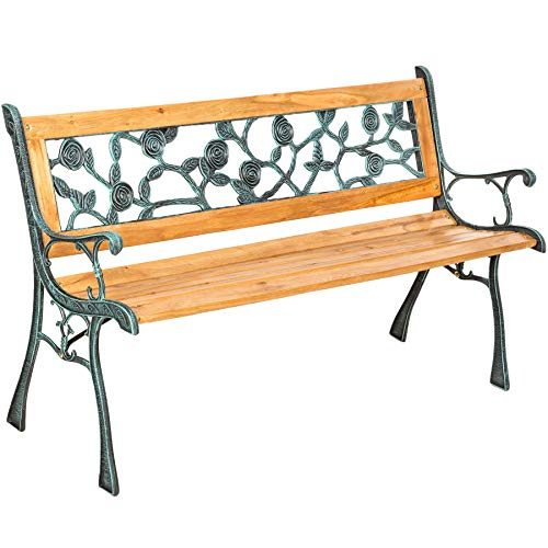 "TecTake Gartenbank Parkbank Holz - Diverse Modelle - (""Marina"" 124 x 52 x 74cm   Nr. 401424)"