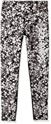 Officially licensed NFL product 3/4 length, slim fit, extended waistband style Team name and logo in reflective print at left leg All over Monochrome splatter print 91% Nylon/9% Spandex