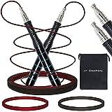 EliteAthlete Springseil - Speed Rope - 2 verstellbare Seile - Profi Kugellager - Jump Rope Erwachsene -...