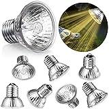 Mudder 8 Paquets Lampe Chauffante pour Reptiles 75W 220V-240V Uva...