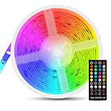 LED Ruban Musical, Fansteck Bande LED 5M 5050 RGB IP65 Lumière Multicolore...