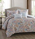 Simplicity Home Dupont Technology 5 Piece Comforter Set, Full/Queen, Bianca