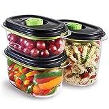 FoodSaver Set di 3 Contenitori Salva Freschezza Sottovuoto con funzione marinatura, 1 da 700 ml, 1 da 1.2 Litri e 1 da 1.8 Litri, BPA Free, Indicatore del Vuoto, Trasparente