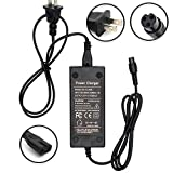 Wyness Battery Charger 3-Prong Inline Connector 100-240V 50/60Hz Power Supply for Pocket Mod,Dirt Quad,and Sports Mod 8mm Plug 42V 2A