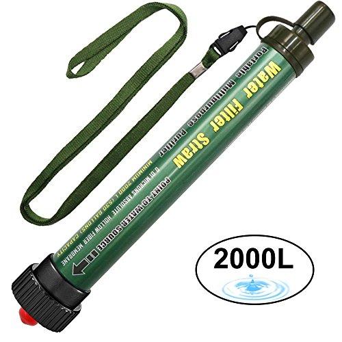 DeFe Filtro de Agua 2000L Personal Sistema de Filtración de Agua Mini...