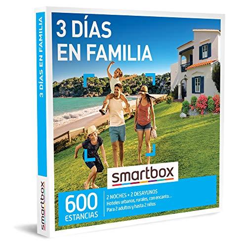 SMARTBOX - Caja Regalo - 3 días en Familia - Idea de Regalo - 2 Noches con Desayuno para 2 Adultos y hasta 2 niños
