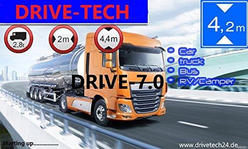 "7"" Zoll 12V/24V/40V NEU EUROPA LKW TRUCK BUS TAXI und PKW Navigationsgerät DRIVE-7.0 Trucker Navi.Neuste Karten Europa Inkl. Russland und Turkish"