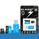 High Speed 32 GB Micro SD Card with Adapter (Class 10 Speed) Memory Storage for Cameras, Tablets GPS...