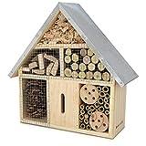 Navaris Hôtel Insecte en Bois - Cabane abri Taille M 28 x 24,5 x 7,5 cm -...