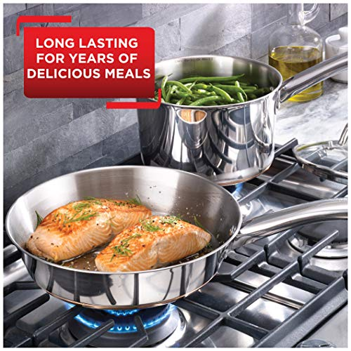 Product Image 4: T-fal C836SD Ultimate Stainless Steel Copper Bottom 13 PC Cookware Set, Piece, Silver