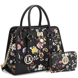 DASEIN Women Handbags Top Handle Satchel Purse Shoulder Bag Briefcase Hobo Bag Set 2pcs 2