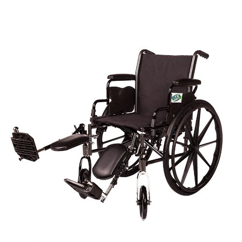 Lightweight Folding Wheelchair Detachable Desk Arm and Removable/Detachable Elevating Legrests by HEALTHLINE (20' Desk Arm)