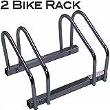 EasyGoProdcuts EGP-BIK-002-1 EasyGo Floor Stationary Double Wheel Rack, Indoor – Outdoor Bike Stand, 2 Bike, 2 Bike