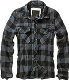 Brandit Check Shirt Chemise, Noir/Gris, XL Homme